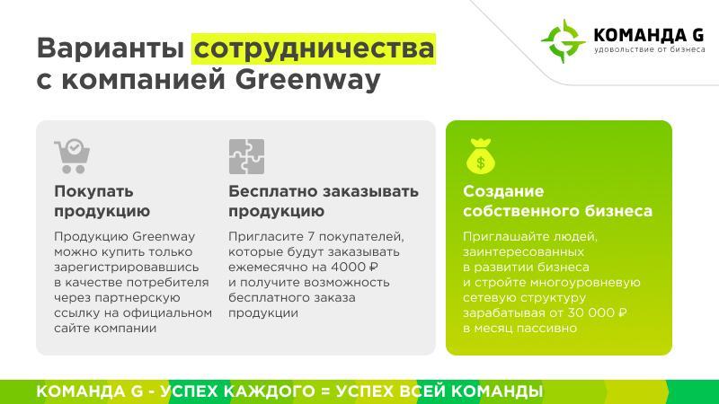 работа в Greenway